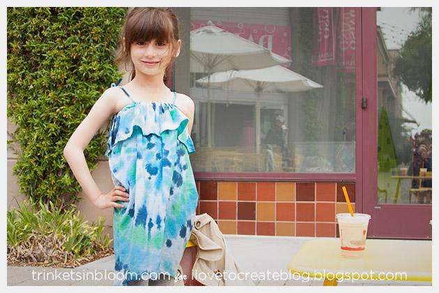 DIY Tie Dye Ruffle Dress photo 3