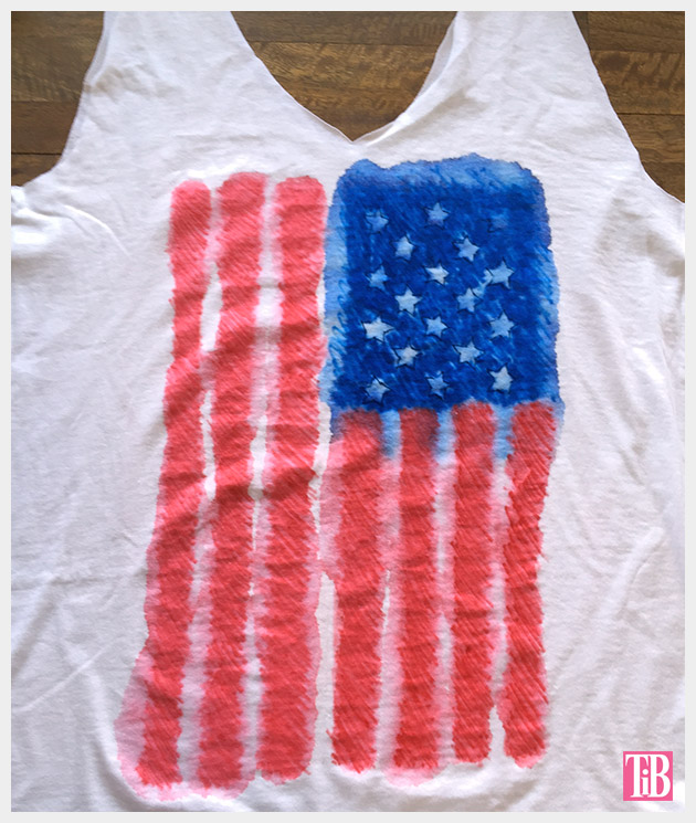 4th of July T-Shirt finished by Trinkets in Bloom