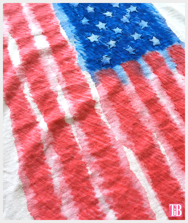 4th of July T-Shirt flag detail by Trinkets in Bloom