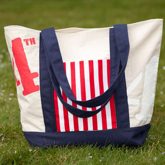 4th of July Tote Bag by Trinkets in Bloom