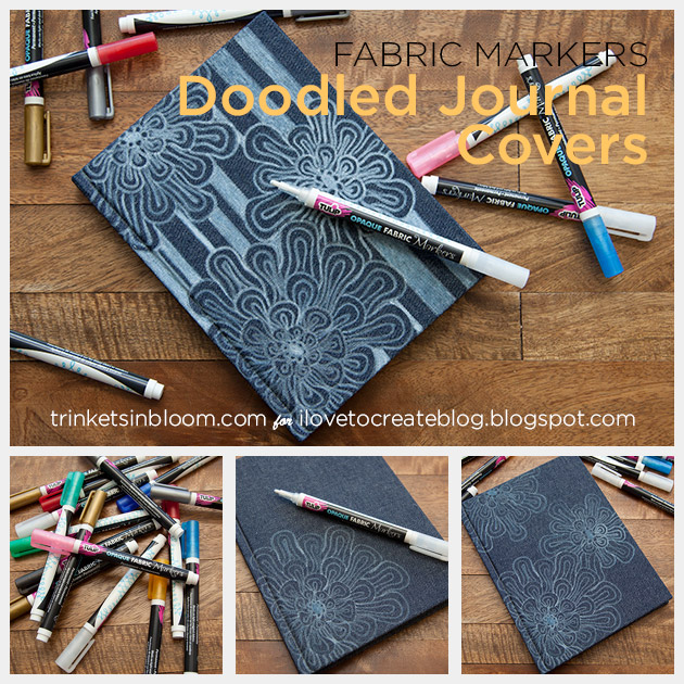 Doodled Journal Cover by Trinkets in Bloom