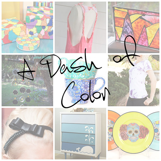 A Dash of Color ThursDIY roundup by Trinkets in Bloom