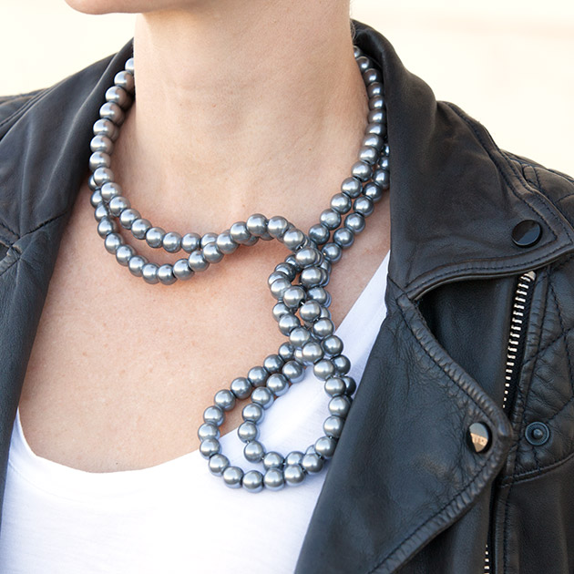 Stella McCartney Inspired DIY Wired Pearl Necklace 630