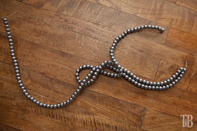 Stella McCartney Inspired DIY Wired Pearl Necklace bending wires