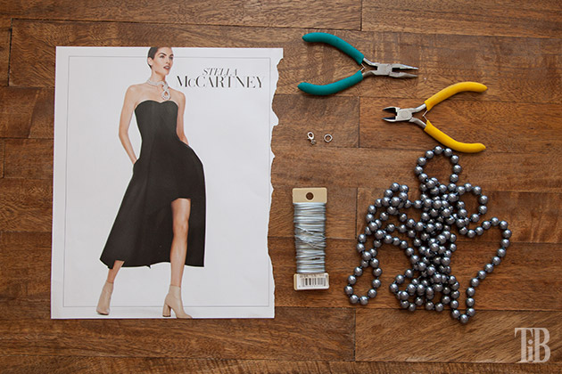 Stella McCartney Inspired DIY Wired Pearl Necklace supplies