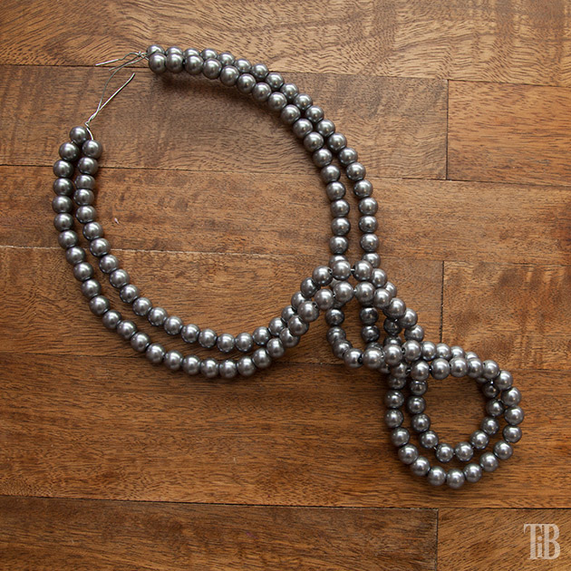 Stella McCartney Inspired DIY Wired Pearl Necklace beaded and twisted