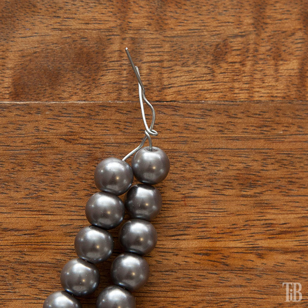 Stella McCartney Inspired DIY Wired Pearl Necklace twist wire ends