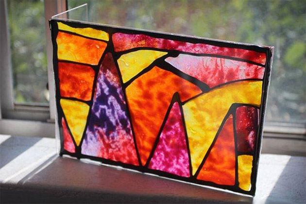 Crayon Stained Glass Windows by Rad Megan