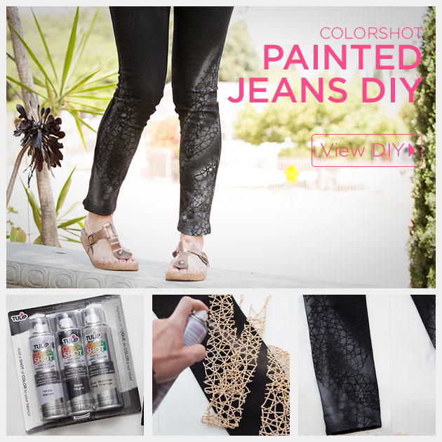 Painted Jeans DIY Feature by Trinkets in Bloom