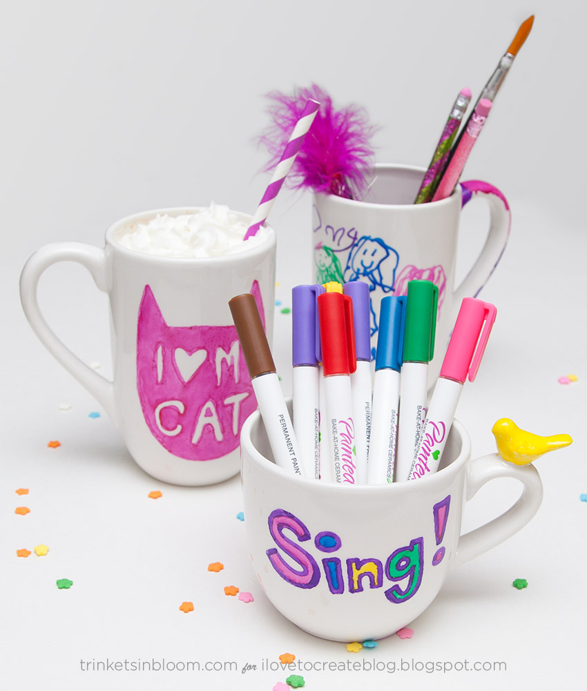 Painted by Me Doodled Mugs by Trinkets in Bloom