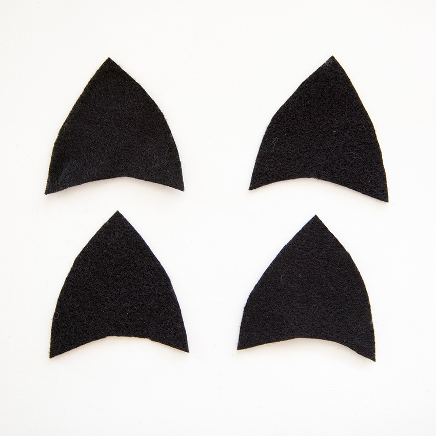 Cat Ears Headband DIY ears cut