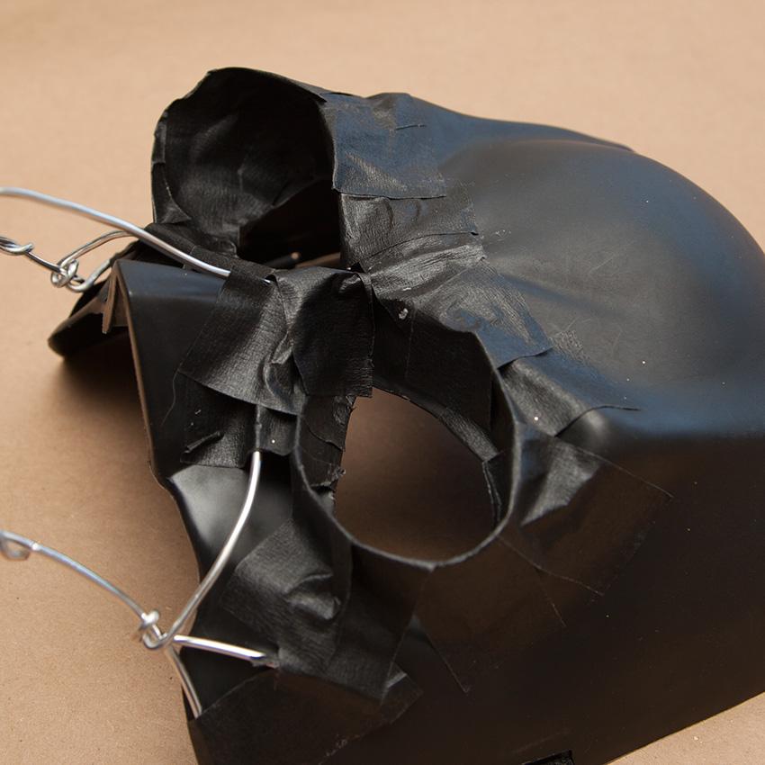 Steampunk Mask making eye sockets