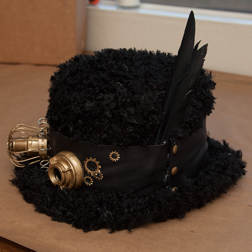Steampunk Hat Finished by Trinkets in Bloom