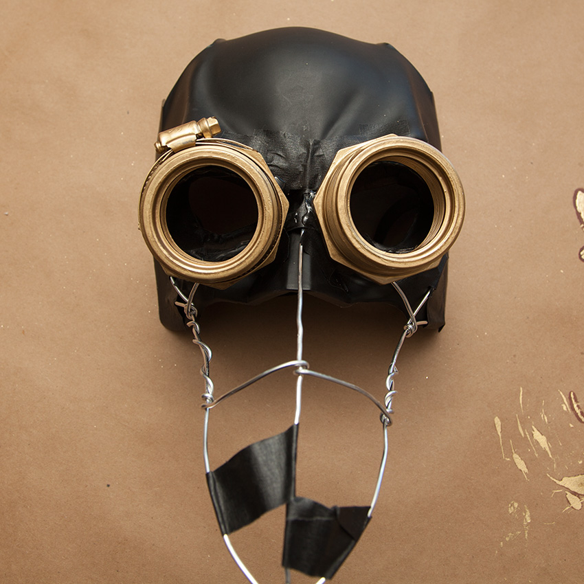 Steampunk Mask building goggles