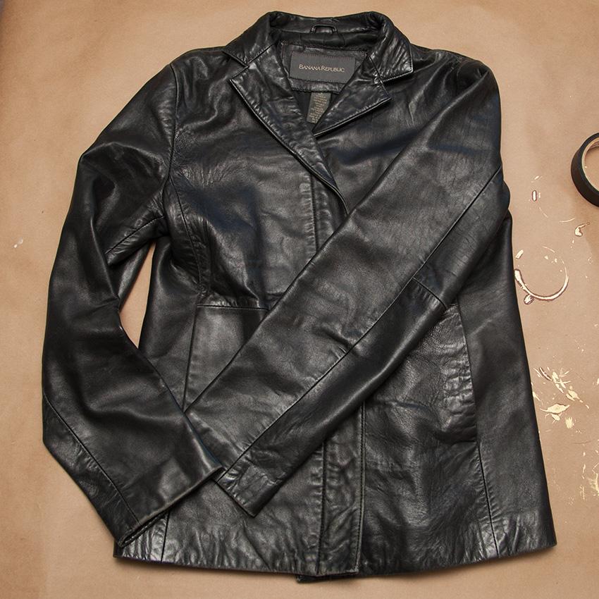 Steampunk Mask leather jacket