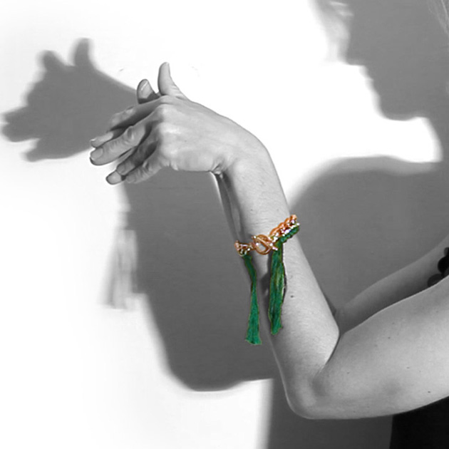 DIY Emerald Braided Bracelet thumbnail by Trinkets in Bloom