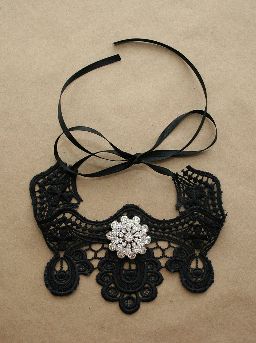 Gothic Choker DIY Finished by Trinkets in Bloom