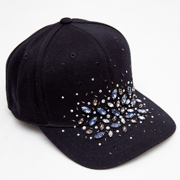 DIY Rhinestone Cap thumbnail by Trinkets in Bloom
