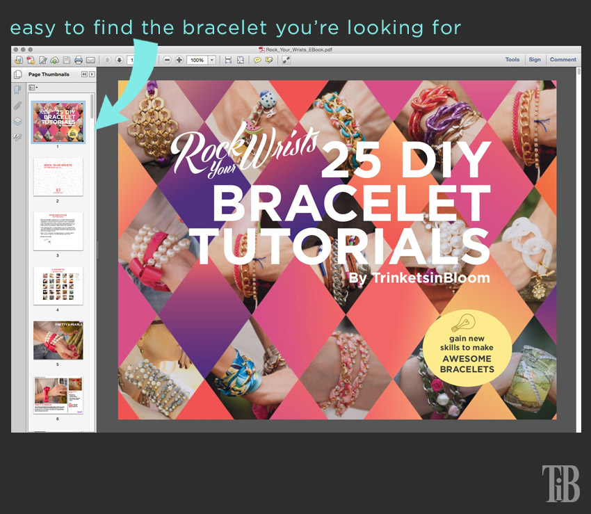 Rock Your Wrists 25 DIY Bracelet Tutorials cover