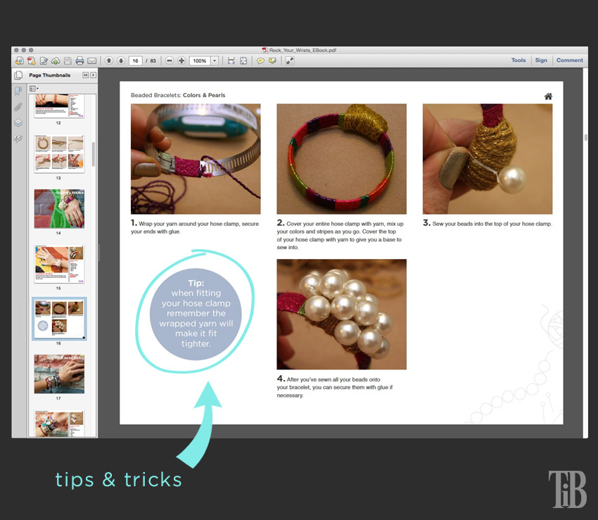 Rock Your Wrists 25 DIY Bracelet Tutorials tutorial page
