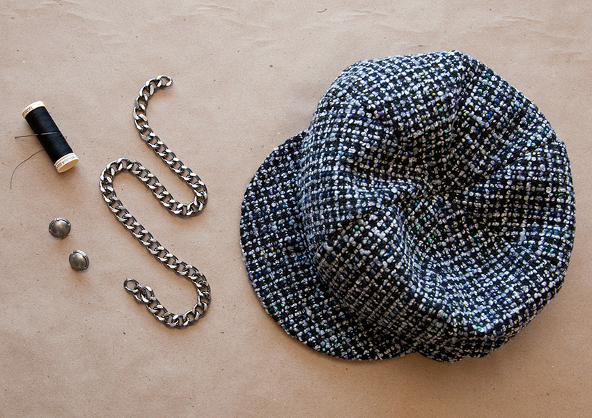 DIY Cap with Chains supplies