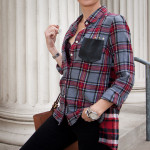 Patched Plaid Shirt DIY 630