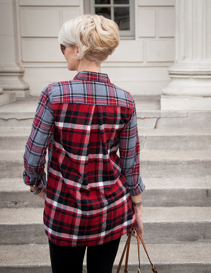 Patched Plaid Shirt DIY