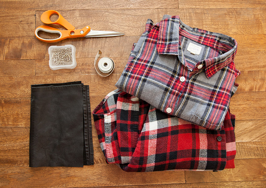 Patched Plaid Shirt DIY Supplies