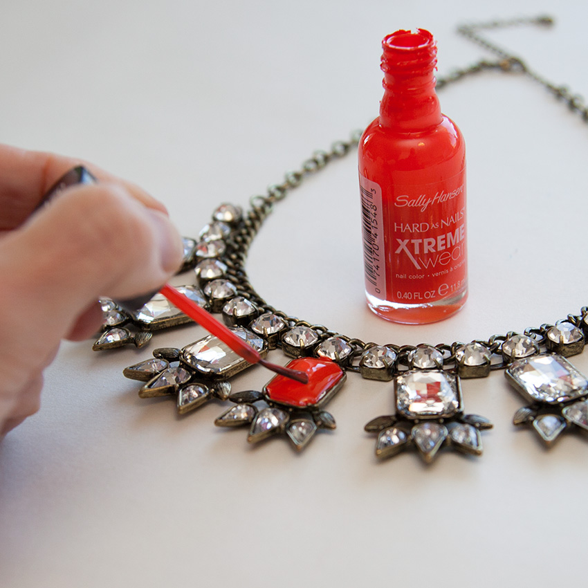 DIY Statement Necklace with Cord by Trinkets in Bloom