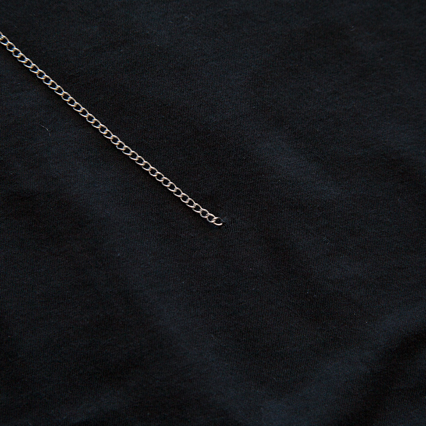 DIY Tee with Chains sewing