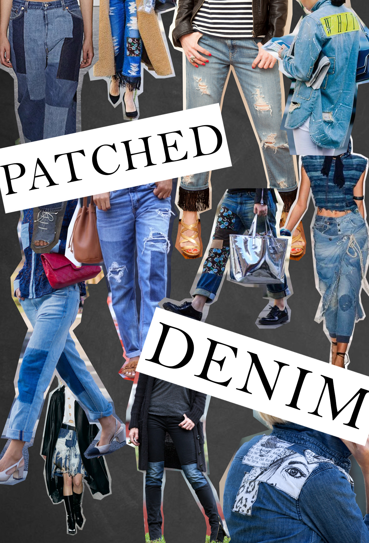 Deconstructed and Patched Denim Trend