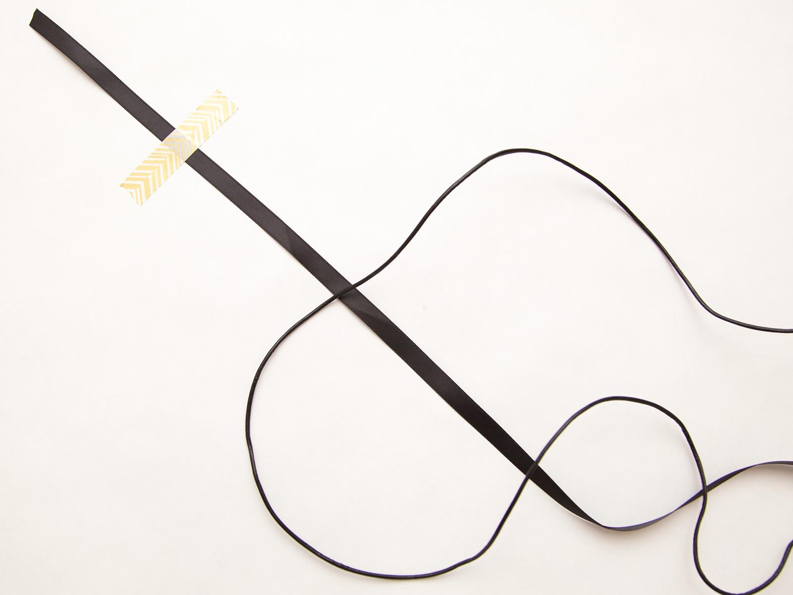 DIY Macrame Choker Step 1 by Trinkets in Bloom