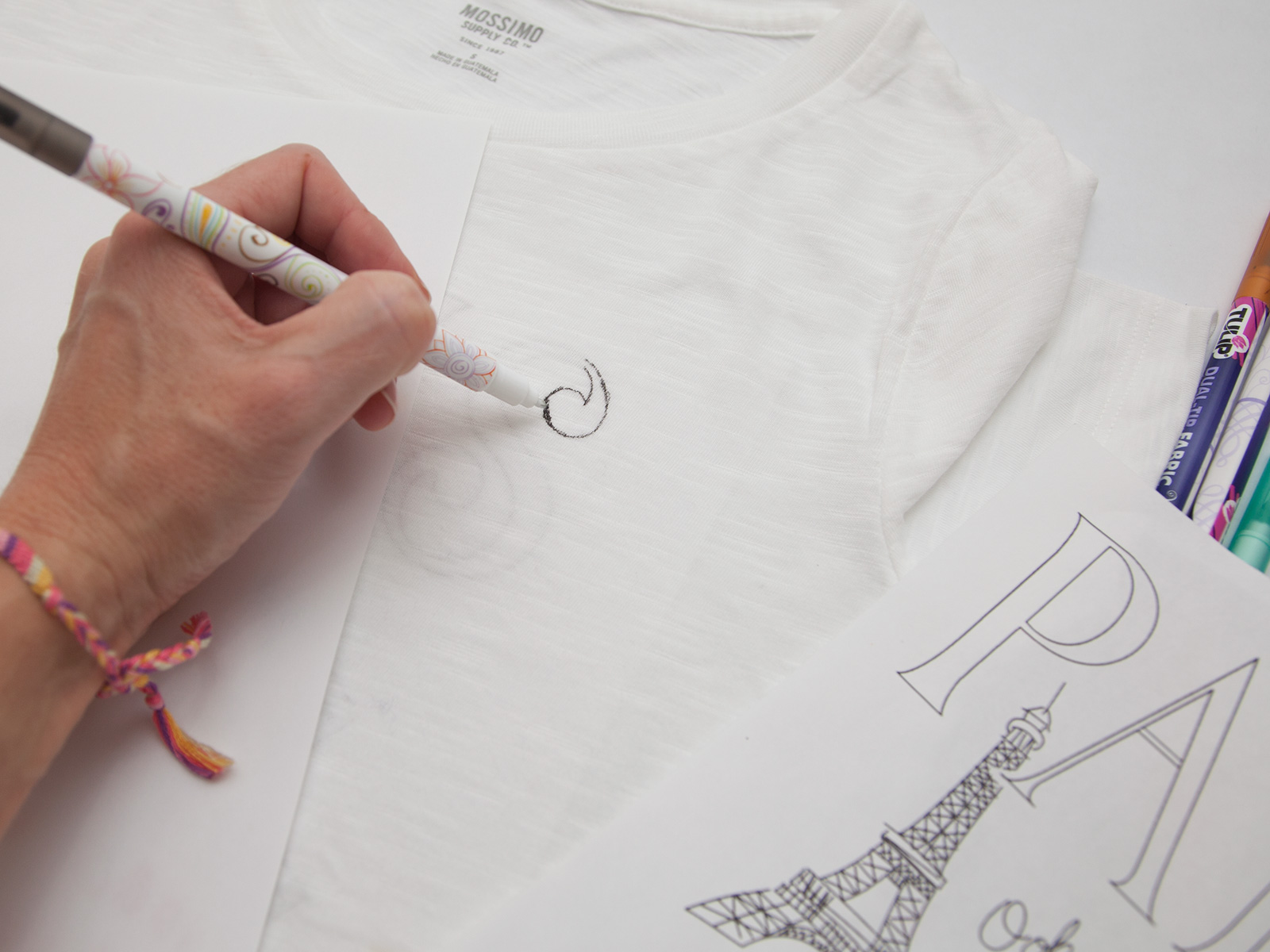 DIY Paris Doodle T-Shirt Drawing by Trinkets in Bloom