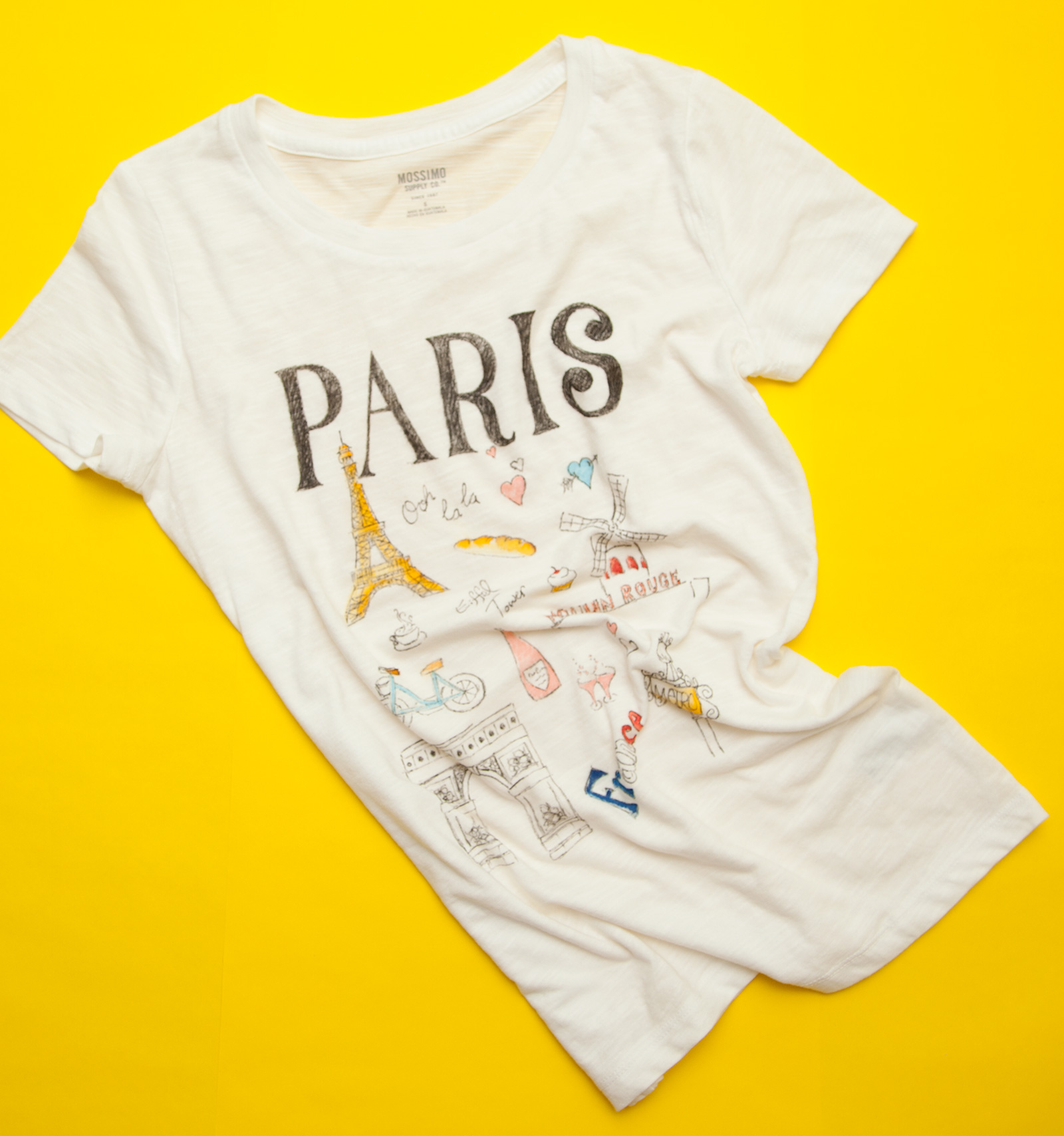 34299f596 How to Make your own Paris DIY Doodled T-Shirt by Trinkets in Bloom