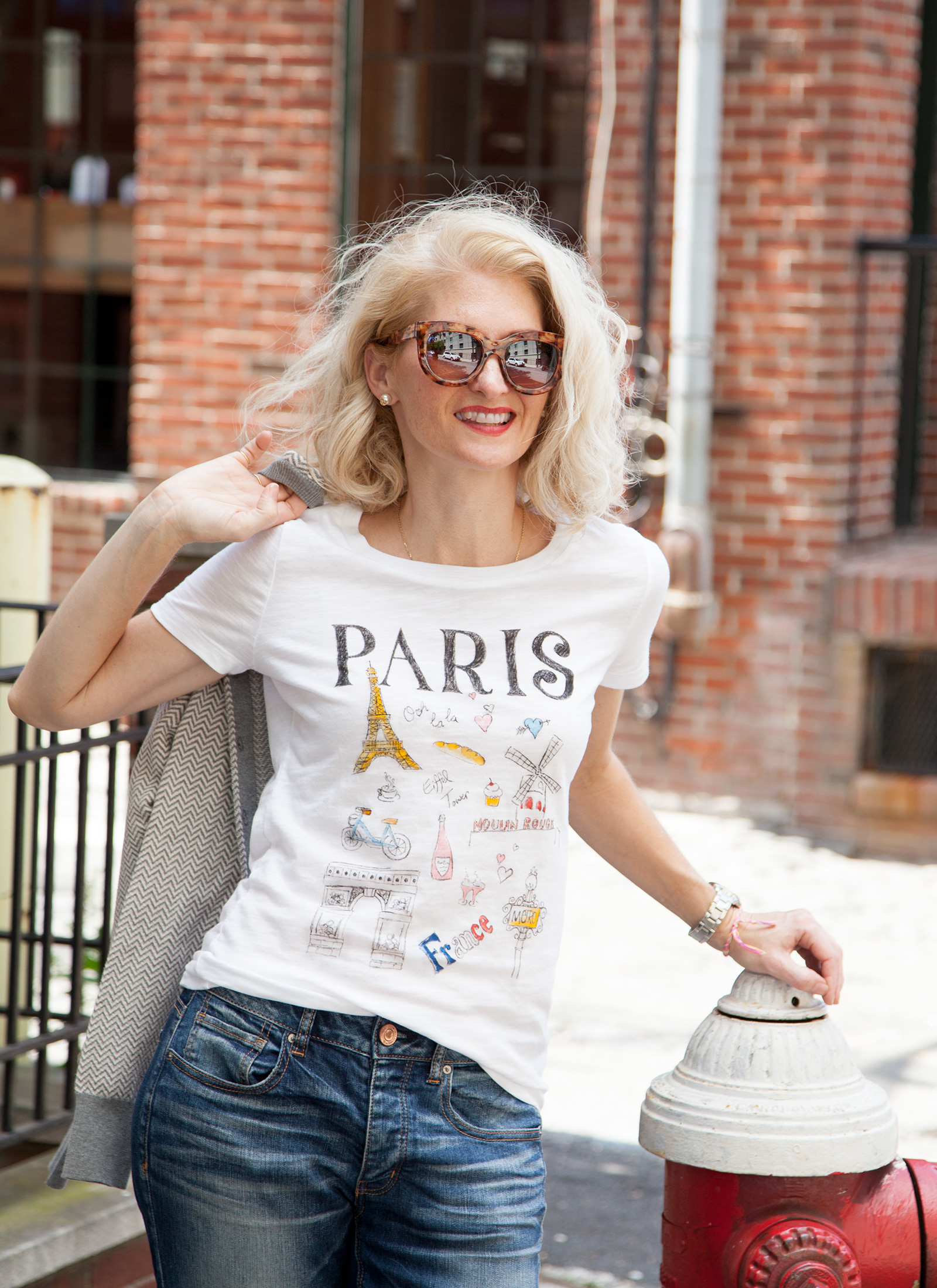 DIY Paris Doodle T-Shirt Photo 1 by Trinkets in Bloom