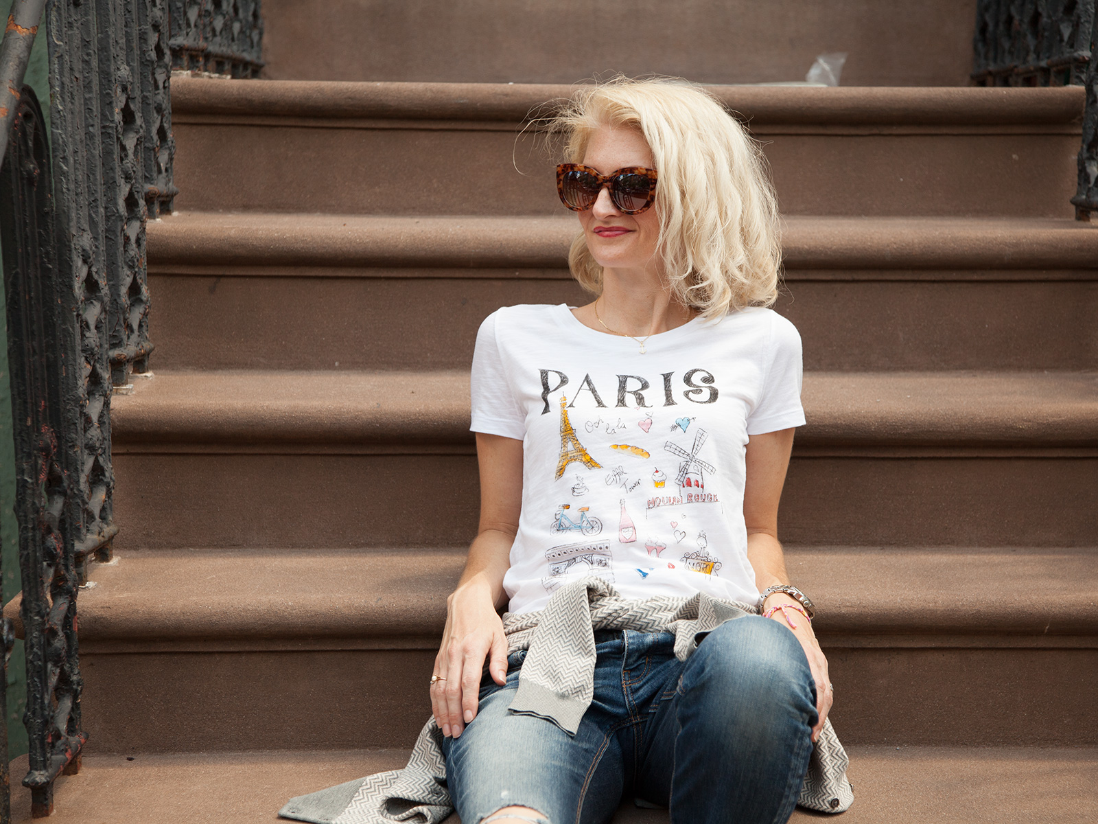 DIY Paris Doodle T-Shirt Photo 2 by Trinkets in Bloom
