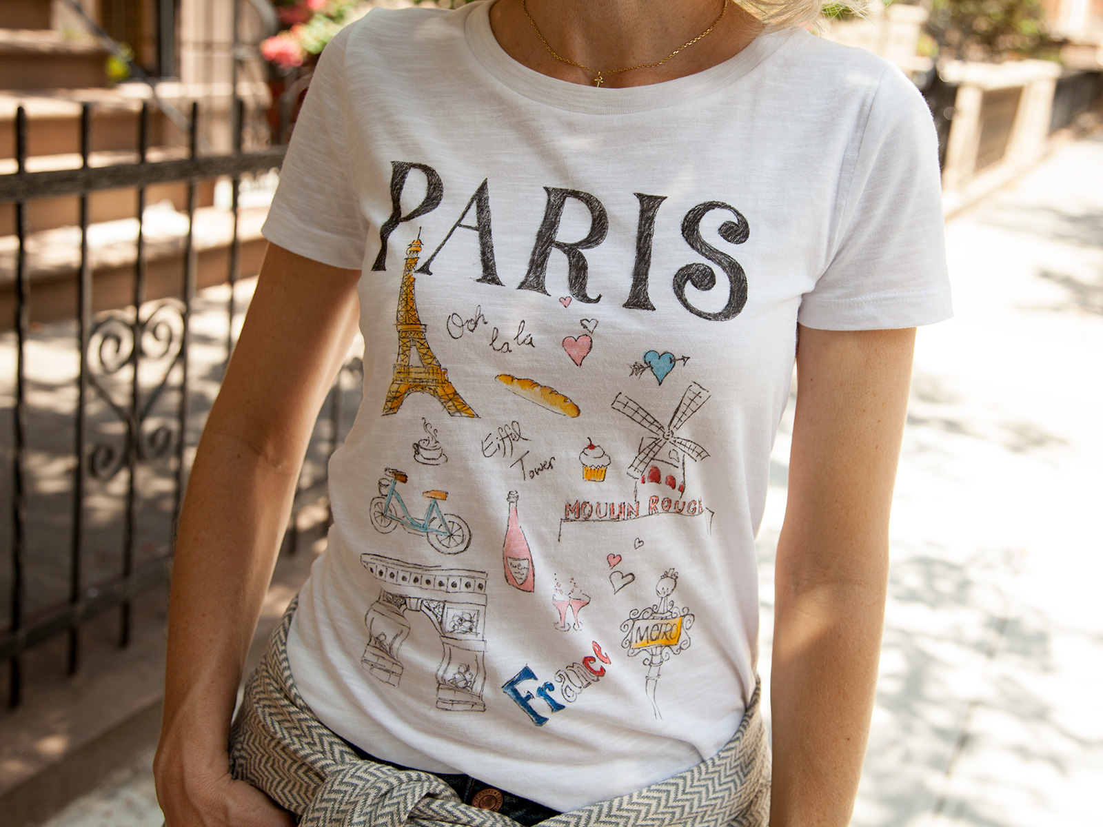 DIY Paris Doodle T-Shirt Photo 4 by Trinkets in Bloom
