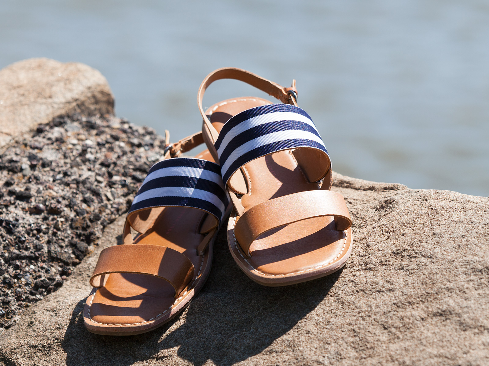 DIY Striped Sandals photo 3 by Trinkets in Bloom
