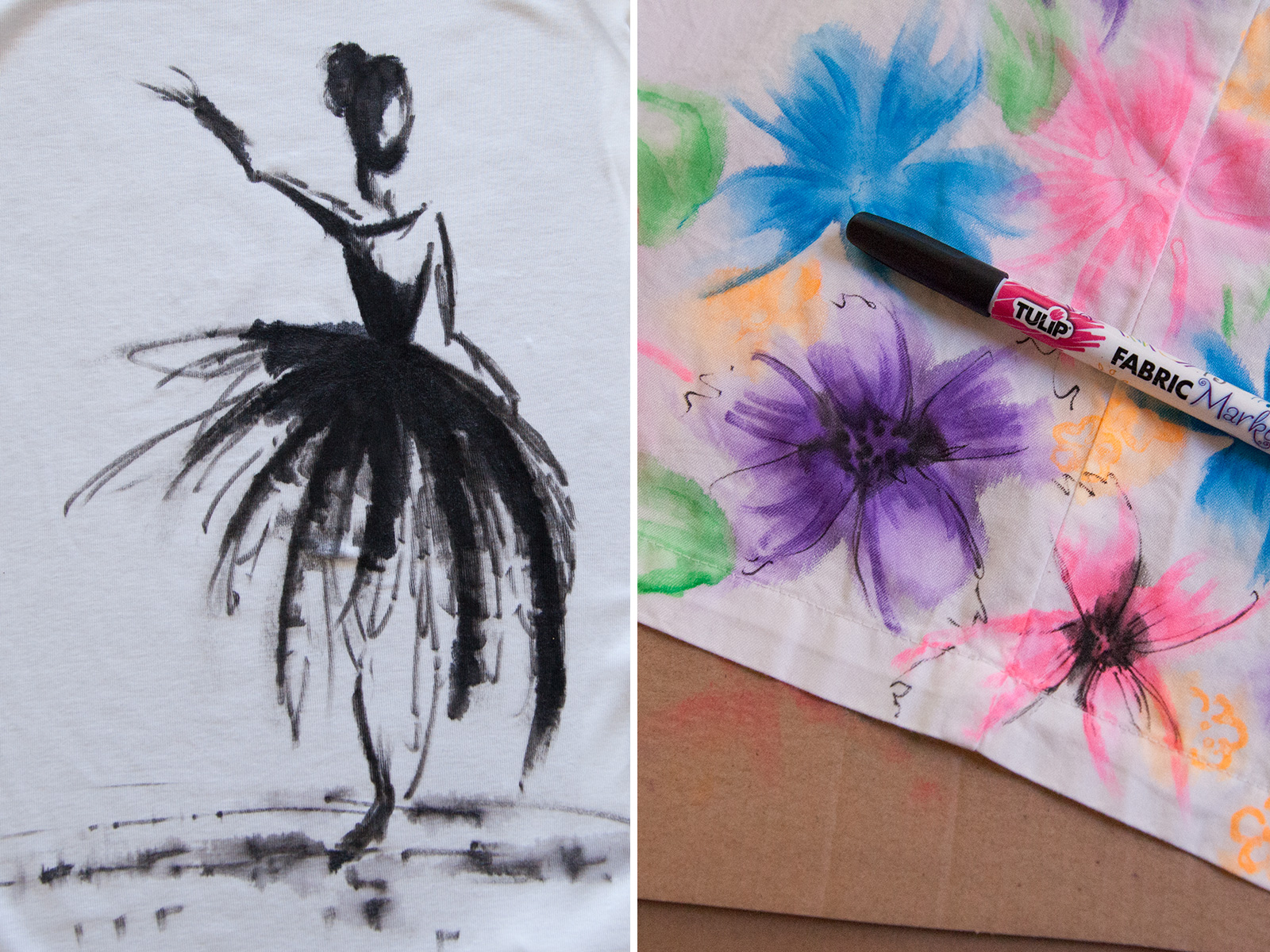 How to Alter Fabric with Fabric Markers 2 by Trinkets in Bloom