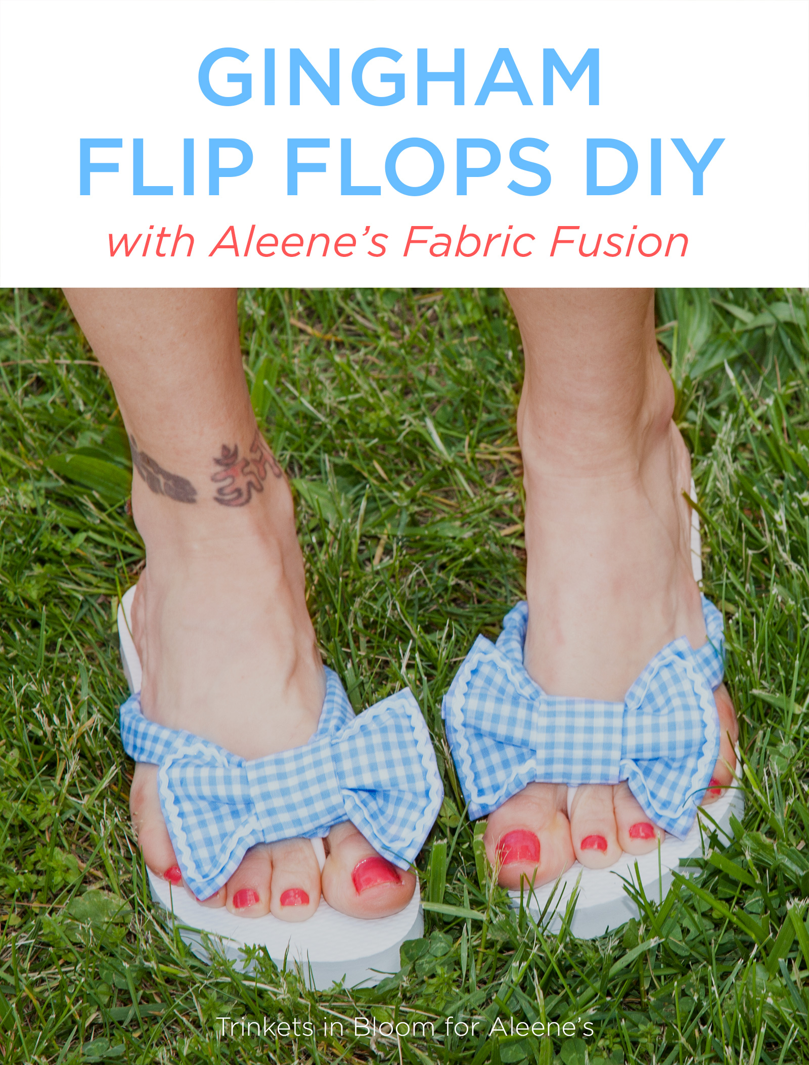 Gingham Flip Flops DIY Graphic