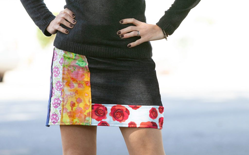 DIY Mini Skirt with patches