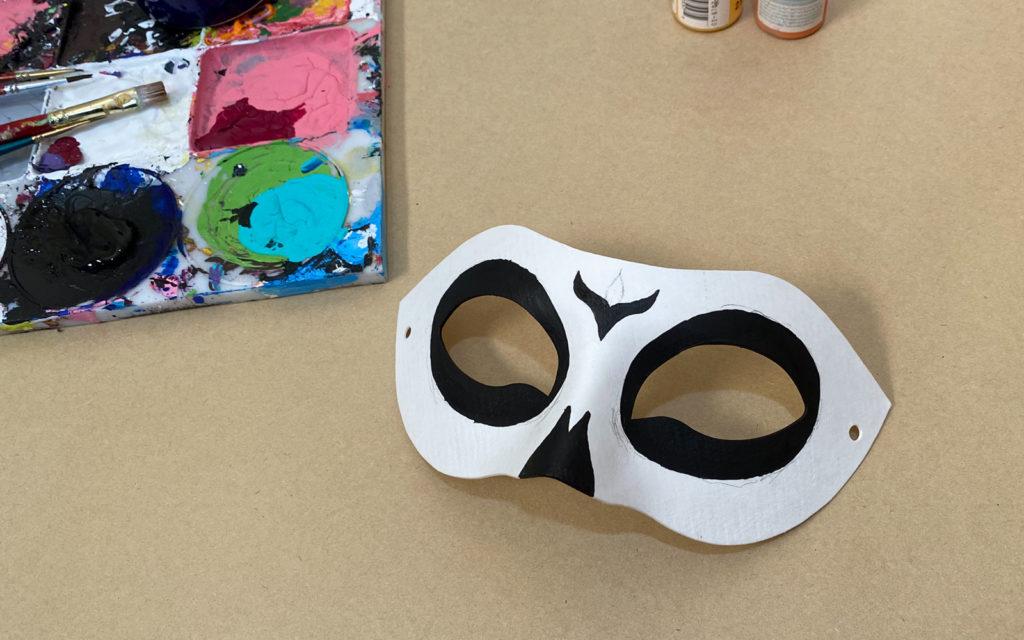 Dia de los Muertos Mask painted black