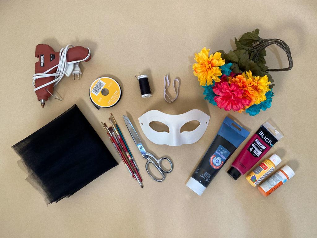Dia de los Muertos Mask supplies